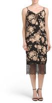 Juniors Floral Lace Inset Midi Slip Dress