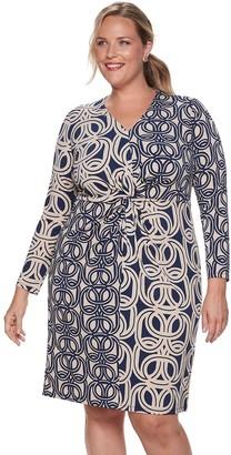 Plus Size Suite 7 Twisted Knot Sheath Dress