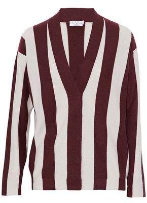 Brunello Cucinelli Striped Cashmere Cardigan