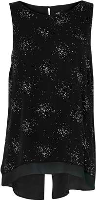 Wallis Black Sparkle Overlay Top