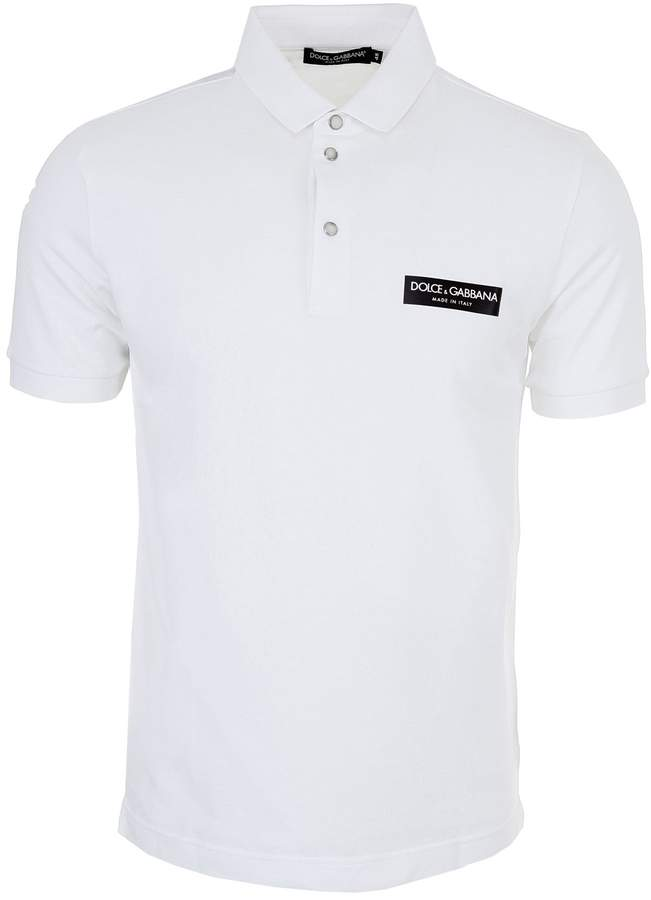 Dolce & Gabbana Polo Shirt With Logo Patch