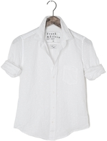 Frank And Eileen Womens Barry Tonal Heart Linen Shirt