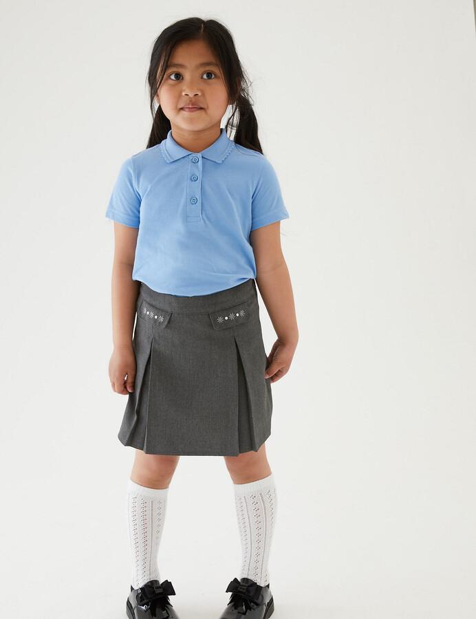 Marks and Spencer Junior Girls' Embroided School Skirt