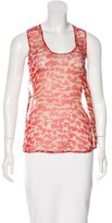 Timo Weiland Abstract Print Silk Top