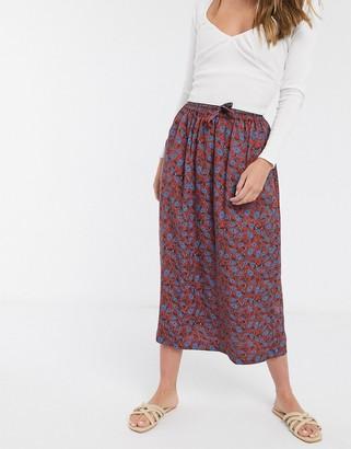 People Tree midi skirt in paisley print