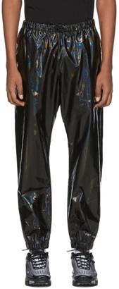 Marcelo Burlon County of Milan Black Iridescent Lounge Pants
