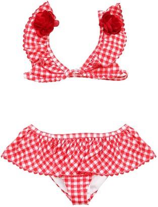 MonnaLisa Gingham Printed Lycra Bikini