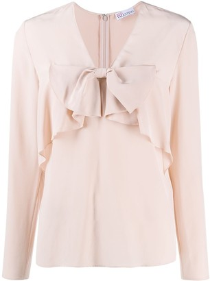 RED Valentino Ruffle Front Blouse