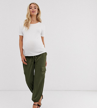 ASOS DESIGN Maternity utility under the bump pants with pocket detail
