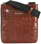 Baldinini crocodile skin effect messenger bag