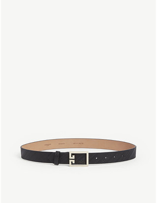 Givenchy Logo buckle embossed leather belt