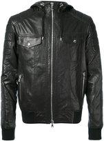 Balmain hooded jacket - men - Lamb Skin/Cotton - 50