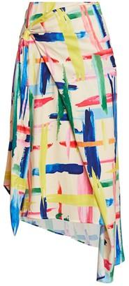 Essentiel Antwerp Vavocado Multicolor Paint Splatter Midi Skirt