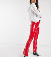 Wild Honey high waist pants in faux leather