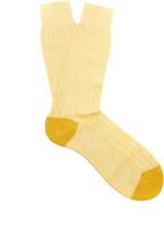 Pantherella Hamada ribbed-knit socks
