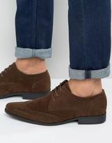 Asos Brogue Shoes In Brown