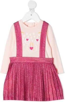Billieblush Pinafore-Overlay Long Sleeved Dress