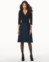 Soma Intimates Leota Wrap Front Short Dress Illuminescent Blue