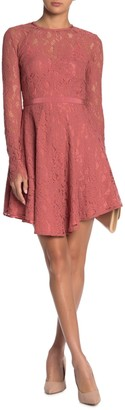 Do & Be High Neck Long Sleeve Lace Dress
