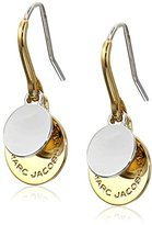 Marc Jacobs Logo Disc Mixed Metal Earrings
