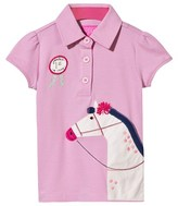 Joules Pink Short Sleeve Horse Polo