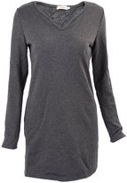 SODIAL(R) Women Lady Dress Pullover Jumper V Neck Long Sleeve Cotton Sexy Party Autumn M