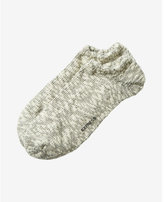 Express heathered popcorn ankle socks