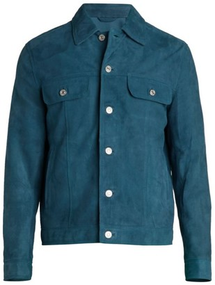 7 For All Mankind Suede Trucker Jacket