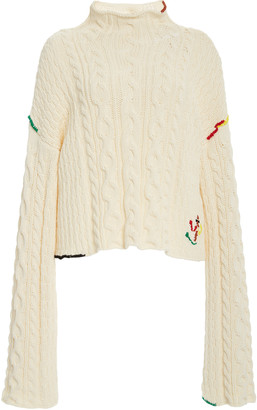 J.W.Anderson Cropped Cotton Cable Sweater