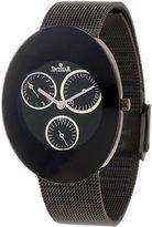 Swistar Women's 416-7L Bk Multi Function Retrograde Day and Date Stainless Steel Watch