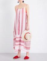 Lemlem Tabtab cotton-blend slip dress