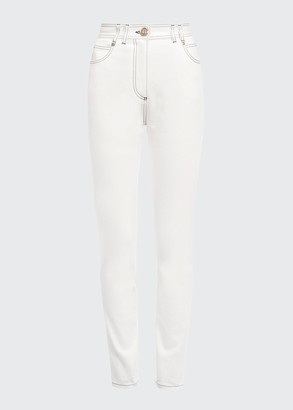 Balmain Top-Stitch Skinny Jeans