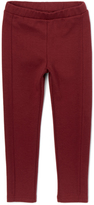 E-Land Kids Wine Front-Seam Fashion Legging - Girls