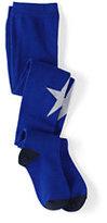 Classic Girls Pattern Tights-Vibrant Blue Star