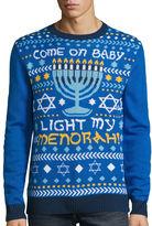 NOVELTY SEASON Novelty Season Crew Neck Long Sleeve Cotton Blend Pullover Sweater