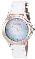Citizen Watches EM0796-08Y Ceci (White) Watches