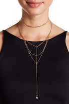 Stephan & Co Layered Y-Drop Simulated Pearl Necklace