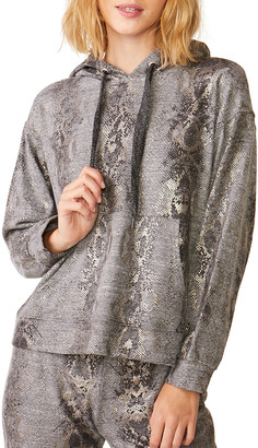 Monrow Foil Snake Oversized Hoodie Sweatshirt