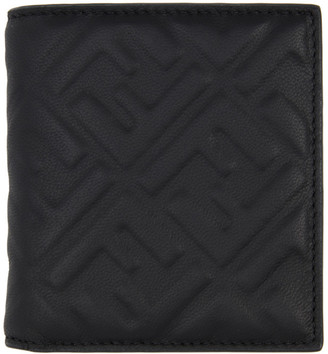 Fendi Black Forever Embossed Bifold Wallet