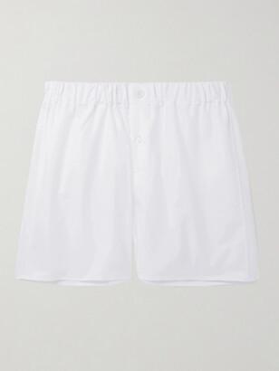 Emma Willis Cotton Oxford Boxer Shorts - Men - White