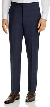 John Varvatos Street Tonal-Plaid Slim Fit Suit Pants