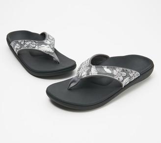 Spenco Orthotic Thong Sandals - Yumi Tropical