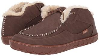 Flojos Tonga Lined Slipper (Brown/Gum) Shoes