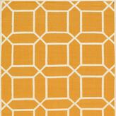 Orange Hand-Woven Lamb's Wool Area Rug No.1