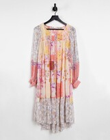 Thumbnail for your product : Free People California Soul maxi shirt dress in patchwork floral