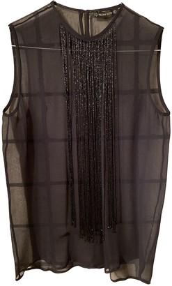 Plein Sud Jeans Black Silk Top for Women