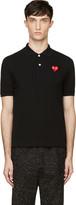 Comme des Garcons Black Heart Logo Polo