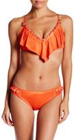 Lucky Brand Vacation Flounce Bandeau Bikini Top