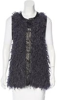 Rag & Bone Wool-Blend Leather-Trimmed Vest