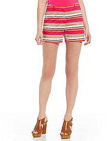 MICHAEL Michael Kors Multi Stripe Printed Poplin Shorts